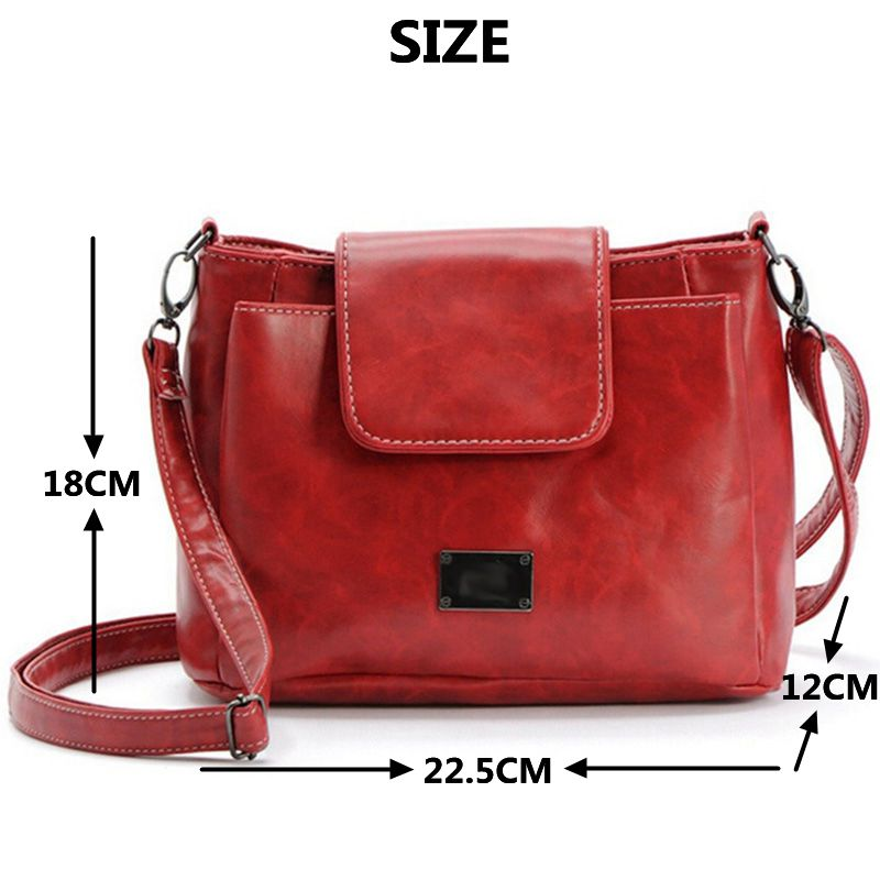 fe4d59c98a77 Women Simple Vintage Postman Bag Big Girls School Black Back Bag Female  Patent Leather Red Cross Body Bags Casual Shoulder Bags-in Shoulder Bags  from ...