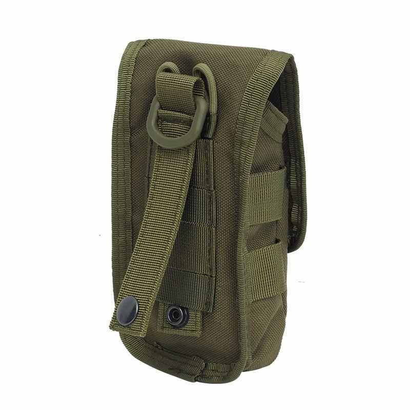Tactische Double-layer Phone Bag Molle Mobiele Telefoon Pouch Geld Gereedschap Tas Riem Militaire Jacht Molle Fanny Tas taille Tas