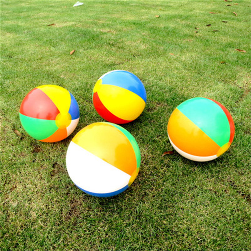 Inflatable Colorful Toys Ball Inflated Beach Balls Outdoor Fun Sport Toys Summer Holiday Swimming Pool Float Game