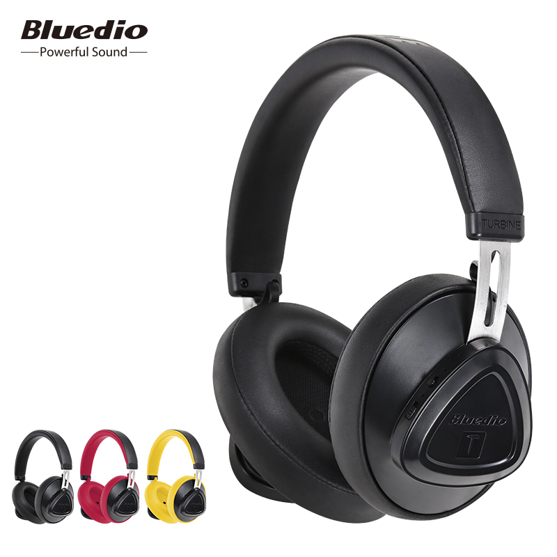 Bluedio TMS wireless headphone with microphone monitor studio bluetooth headset voice control for music and phones image