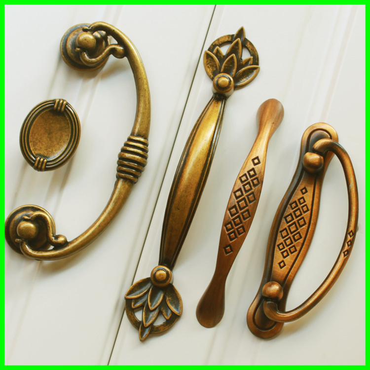 European antique copper metal cabinet drawer wardrobe door handles American Chinese cabinet door handle hole minimalist cabinet half off osl single hole bronze seckill handle european antique handle drawer wardrobe cabinet door handle