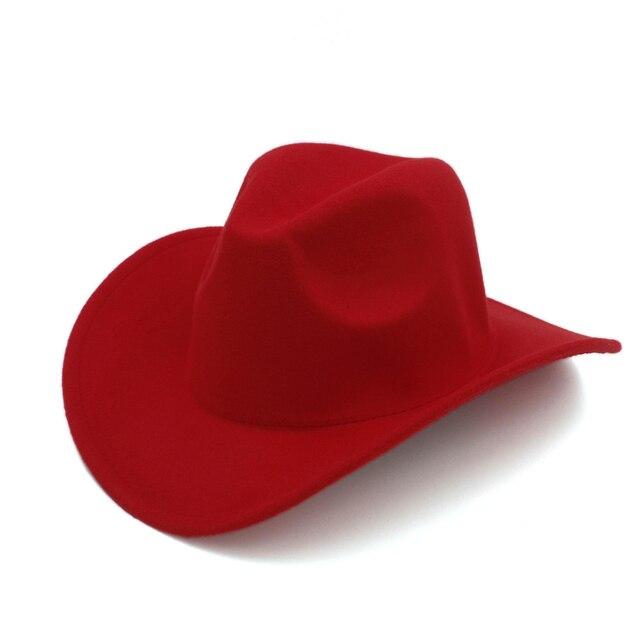 100% Lana Autunno Inverno Bambini Bambino Feltro Cappello Da Cowboy  Occidentale Per ragazza Ragazzo Cowgirl ddd255e09002