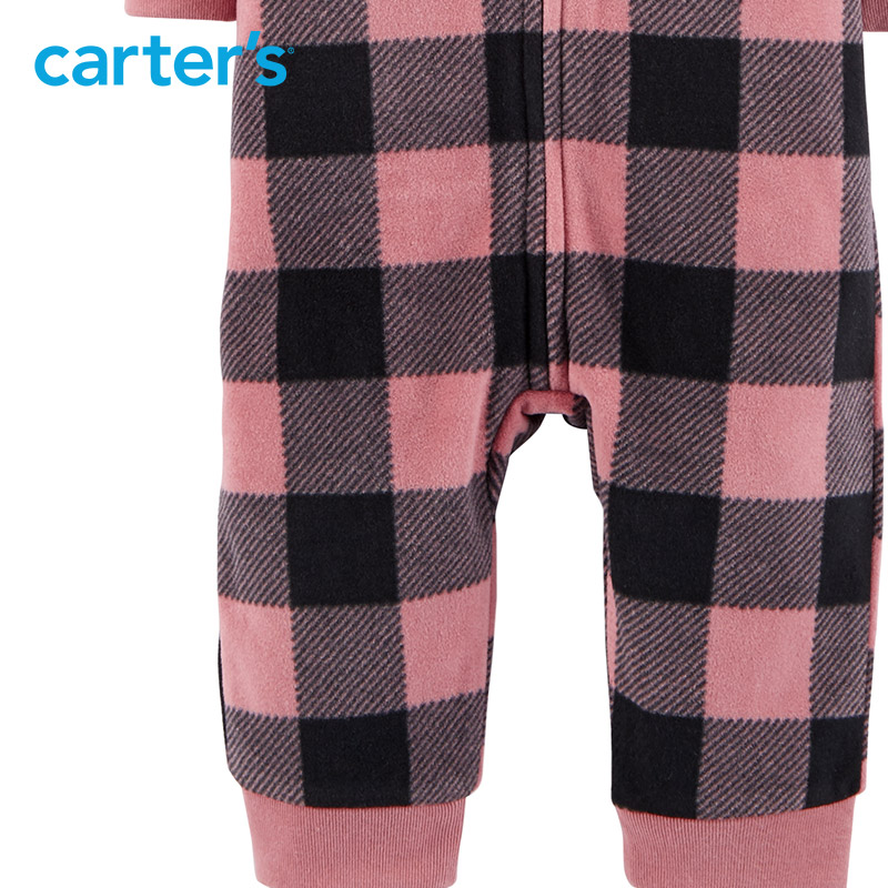 23d20e25bdc Carters Cute baby girl rompers heart print cozy soft fleece bear ears  hooded zip up jumpsuit baby boy clothes 118I453-in Rompers from Mother    Kids on ...