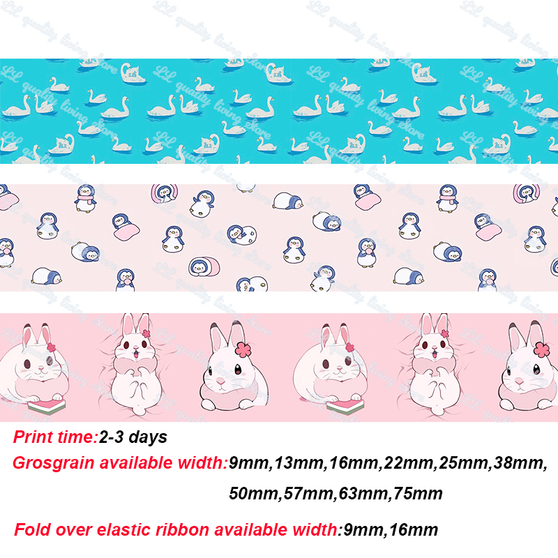 cute rabbit pink ribbon lovely