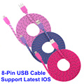 1M/2M/3M Colorful For Lightning USB Data Sync Charger Cable BrankBass Data Sync Charger Cable Cord Wire For iPhone 5/5s/6/6Plus
