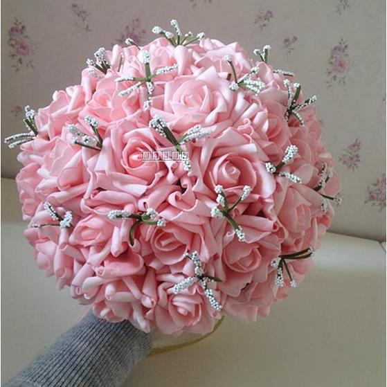 Korean Wedding Flowers: Korean Bride Bouquet 30 Roses Pink Wedding Bride