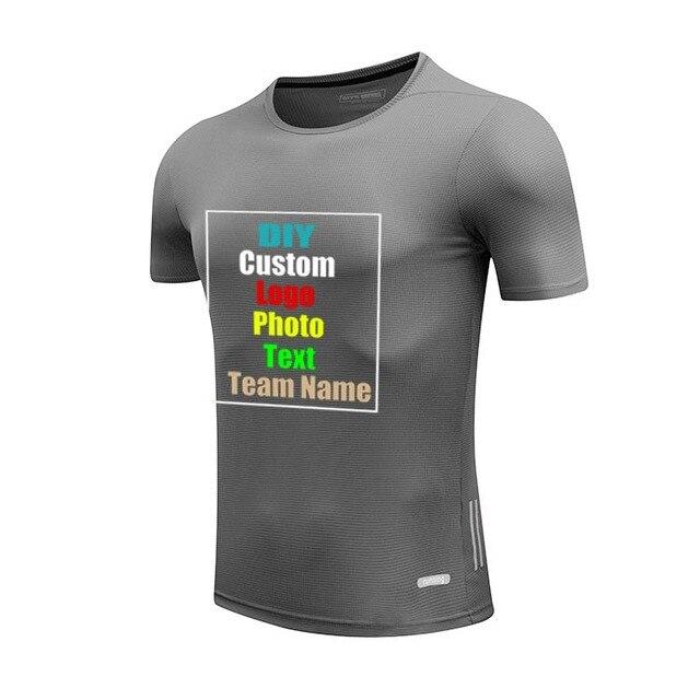 638d7bf3db41 Quick Dry Unisex Men Women Adult Kid custom T-shirt short sleeve DIY  Customized Logo Photo Text printed Male T shirt Tops Tees