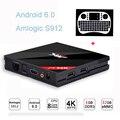3 GB RAM 32 GB ROM H96 pro + Amlogic S912 Octa core Android Tv caja 4 K WiFi H.265 BT4.0 Gigabit Lan Mini PC Smart TV box + i8 teclado