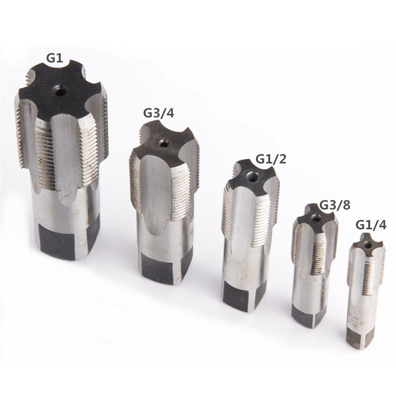 Precise Piping Thread Taps Straight Flutes For Water Pipe G1/4 G3/8 G1/2 G3/4 Plug Teeth Wire Screw Tap Hand Threading Tool Tools