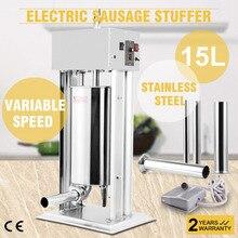 15L 33LBS Электрический колбасный шприц наполнитель производитель коммерческий начинка отлично подходит для Европы