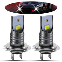 1pair 40W H7 LED Car Fog Lamp High Power 5050 Chips 6000K Pure White Waterproof Auto Front Headlamp Fog Driving Lights DC 12V