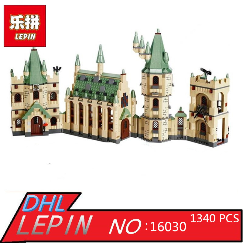 Lepin 16030 1340pcs Movie Series Harry Potter Hogwarts Castle with Legoingly Building Blocks Bricks Kits Compatible 4842 lepin 16030 1340pcs movie series hogwarts city model building blocks bricks toys for children pirate caribbean gift