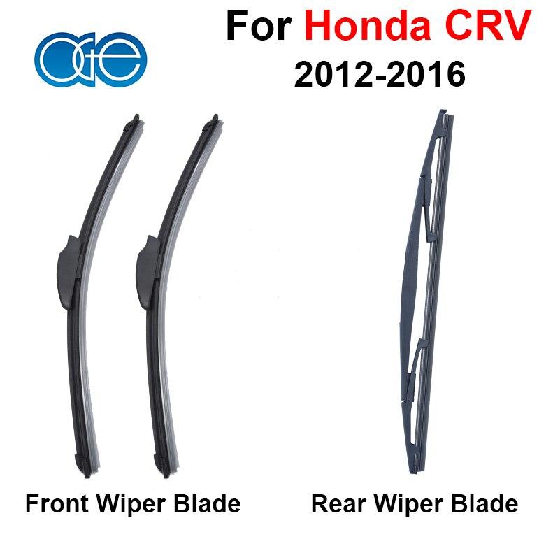 Prix pour Pare-brise Essuie-glace Lame Pour Honda CRV CR-V 2012 2013 2014 2015 2016 Avant Et Arrière Pare-Brise En Caoutchouc de Silicone De Voiture Accessoires