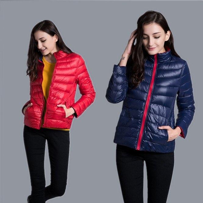 NewBang Brand Down Jacket Women Ultra Light Down Jacket Women Feather Double Side Windbreaker Reversible Lightweight Coat Parks