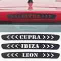 Carbon Fiber Brake Sticker For Seat Leon Ibiza cupra Rear Brake Lights stickers Car Accessories