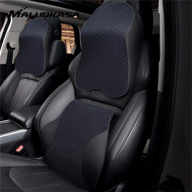 3D Speicher Schaum Auto Kissen PU Leder Sitzkissen Neck Kissen Taille Lenden Universal Zurück Rest Lenden Auto Zubehör