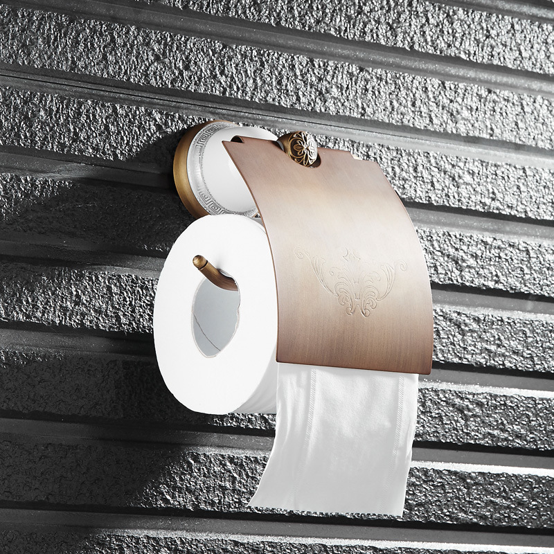 ФОТО European Ancient Toilet Paper Holder,Roll Holder,Tissue Holder,Solid Brass Antique Finished-Bathroom Accessories Products OB91-2