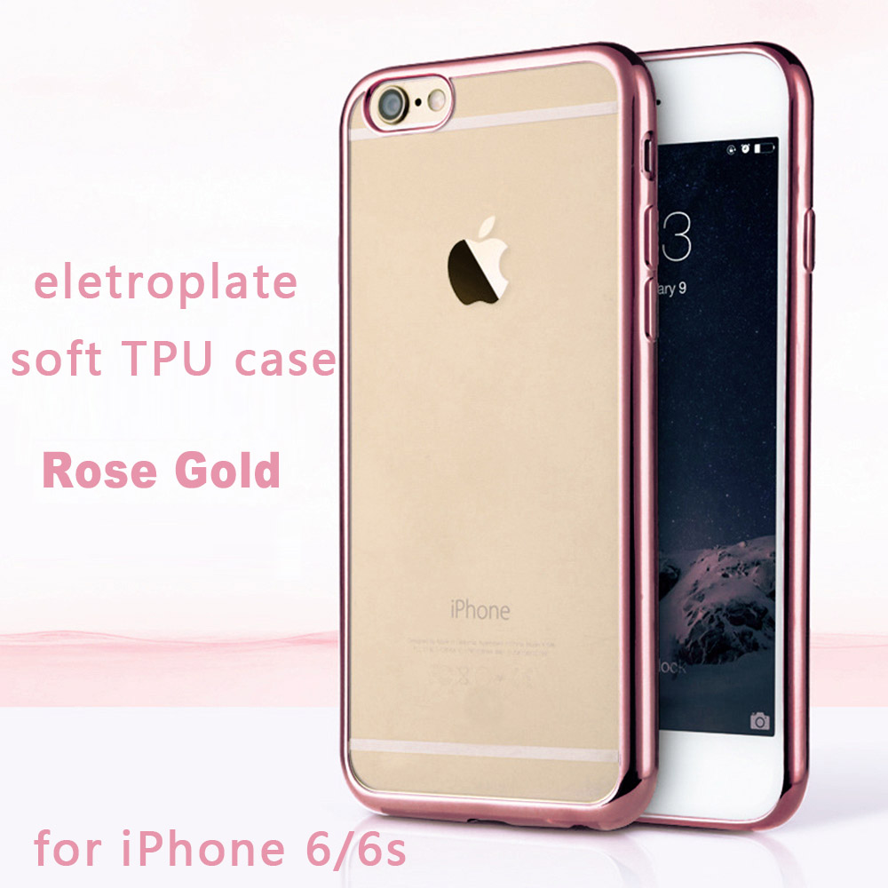 Luxury Case for Apple iPhone 6 6s Transparent Eletroplate