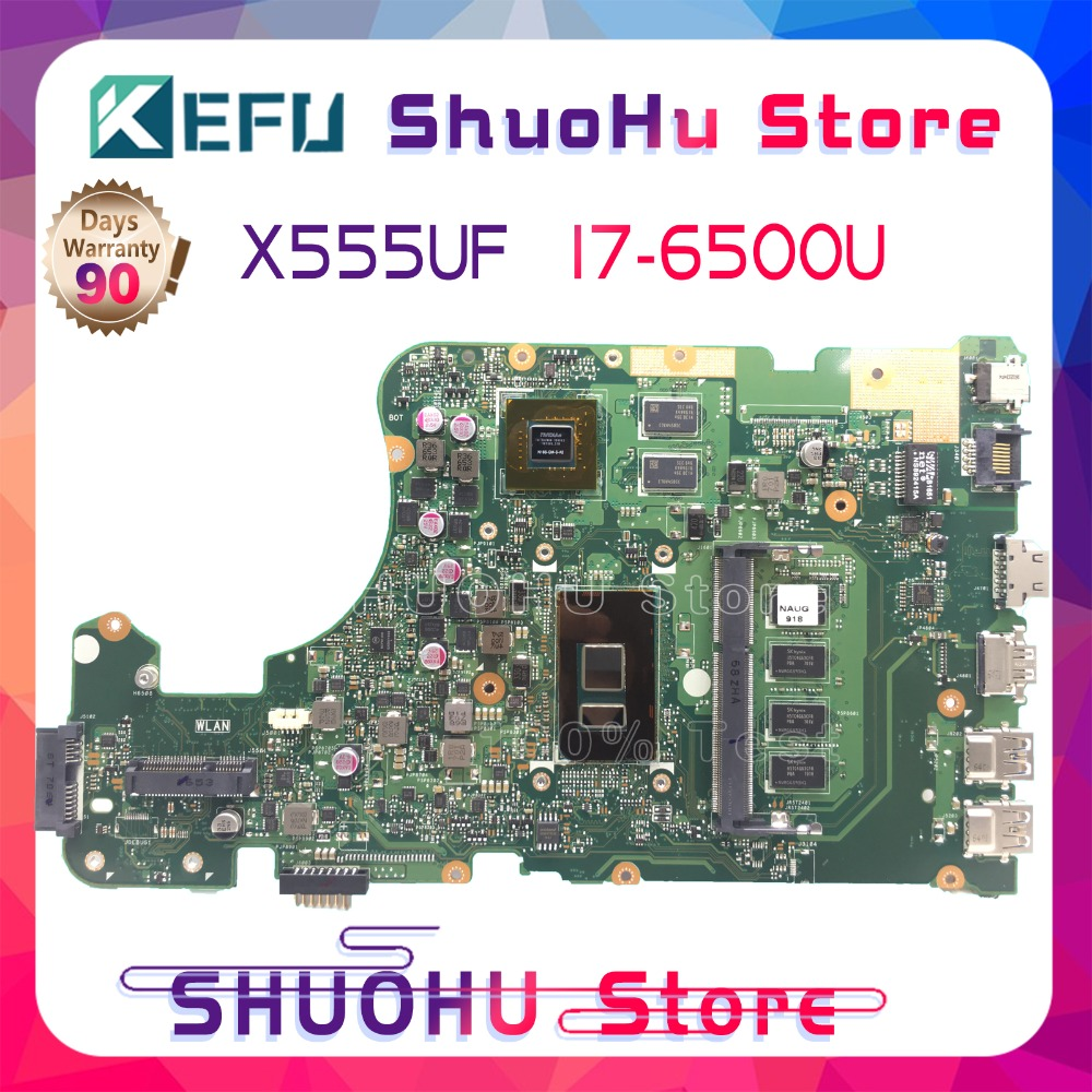 KEFU <font><b>X555UJ</b></font> I7-6500U 4G Memory For <font><b>ASUS</b></font> X555U laptop motherboard X555UF F555U X555UB X555UQ tested 100% work original mainboard image