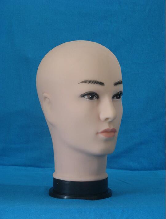 training doll female head display stand manikin,mannequin for wig salon for hair dresser,Plastic Head ,freeshipping