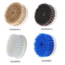 60 мм сверло с питанием головка щетки для очистки керамической душевой ванны ковер синяя щетка