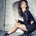 Европа 2016 Новых Мужчин ПУ Платье Дамы Кожа Мода Sexy Party Bodycon женская Тонкий Клубная Одежда Искусственной Кожи Платья Черный