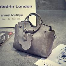 Модные новые сумки высокого качества из искусственной кожи женская сумка Тканое кольцо переносная сумка на плечо Модные дикие подвеска «Микки Мауз» женская сумка