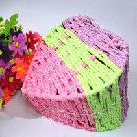 Home Decoration Receive Basket 17 16 5 12 5cm Colorful Lattice Heart Shape Weave Basket Home