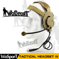 WoSporT Tactical Headset III Z Tactical Bowman Elite II Mic Radio Boom Use with PTT for Walkie Talkie Helmet Communication