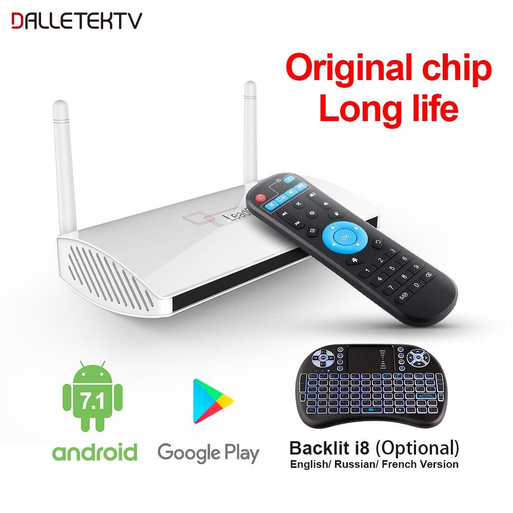 Boîtier Tv intelligent Leadcool Android 8.1 1G/2G DDR3 8G/16G EMMC RK3229 Quad Core 4K H.265 lecteur multimédia 2.4G Wifi 100M LAN décodeur