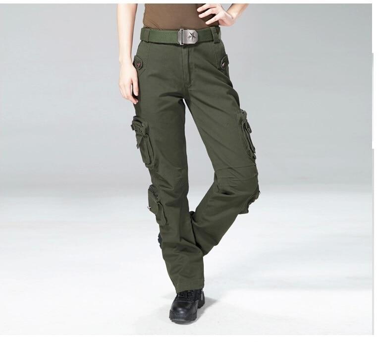 Alta calidad de la mujer pantalones Cargo pantalones casuales pantalones  para mujer pantalón multibolsillos militar general para mujeres al aire  libre ... f95d8a8c0fa1