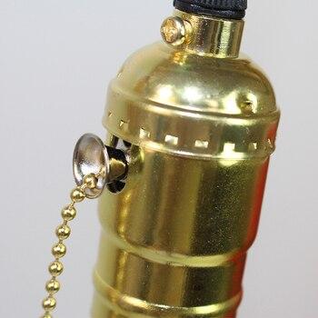 Aluminum Vintage Lamp Base E27 110V/220V Lamp Holder Pendant Light With Switch/No SwitchScrew Socket 3 Colors Bed Room lamps 6