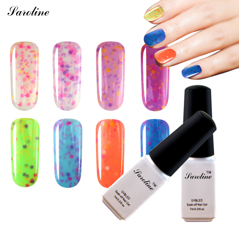 Nail Gel Brands: Saroline Cheese Brand Lucky Colors Gel Nail Polish UV With