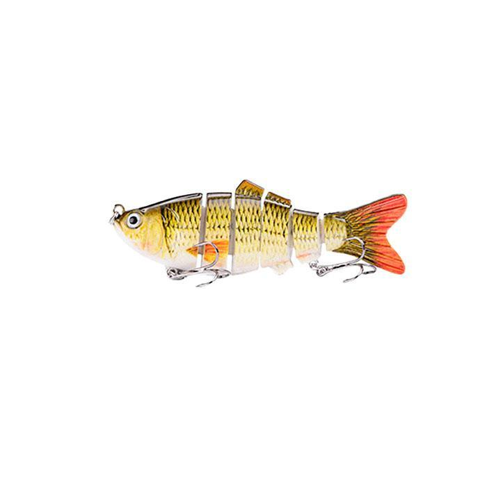 Ultra Light Fishing Lure Micro Jointed Old Gold 35mm