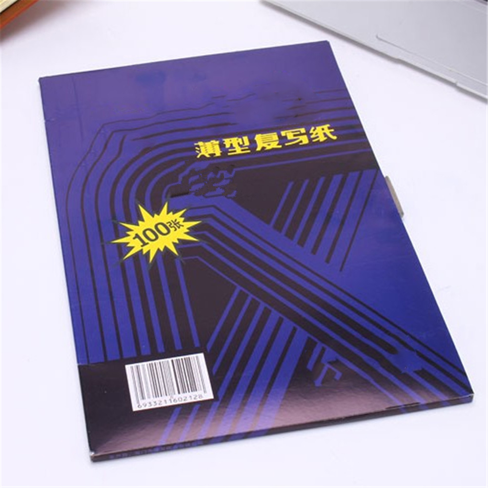 100pcs/box A4 12K Blue Carbon Stencil Transfer Paper Double Sided Hand Pro Copier Tracing Hectograph Repro 22x34cm
