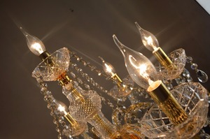 Image 3 - 7 머리 luxruy e14 촛불 크리스탈 테이블 램프 패션 크리스탈 테이블 램프 거실 램프 침실 램프 k9 상단 크리스탈 테이블
