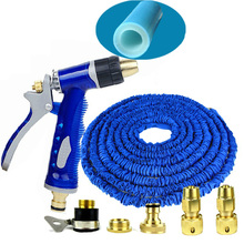 Household Telescopic Pipe Watering Hose Pipe Portable Washing Device 30m