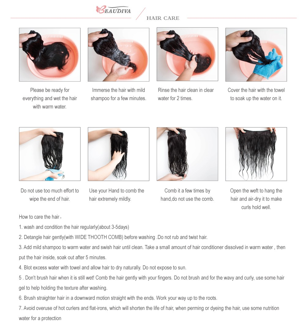 Beaudiva Hair Extension 100% Human Hair 24