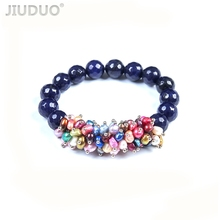 JIUDUO Fashion Cultured Freshwater Pearl Bracelet Natural Jewelry for Women Unique super burst genuine noble grade special