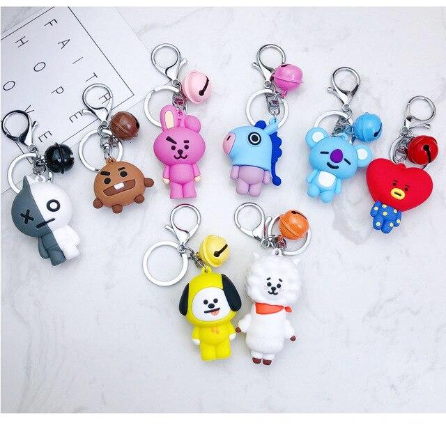 Cartoon Keychain car Key Holder Chain Bag Pendant Accessories Keyring Jewelry For birthday Gift dropship  K2198