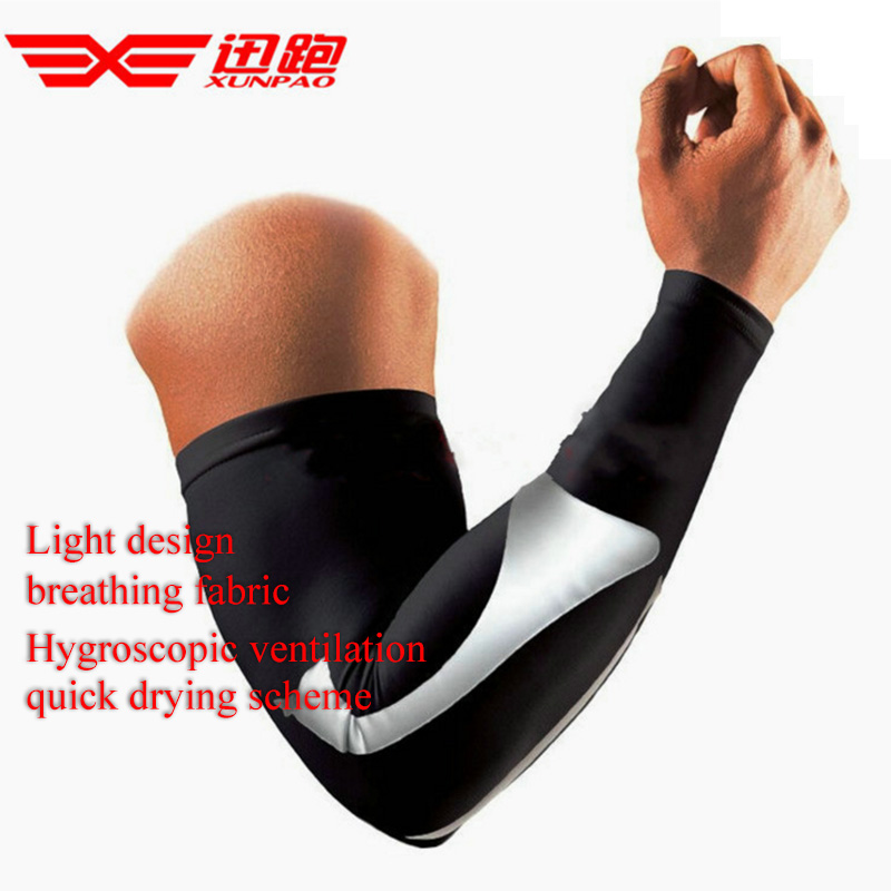 2017 New 1pcs Colorful Elastic Elbow Arm Warmers Pad Cycling Basketball Long Arm Sleeve Sports Safety Elbow Support Protector Durable Modeling Sports Accessories