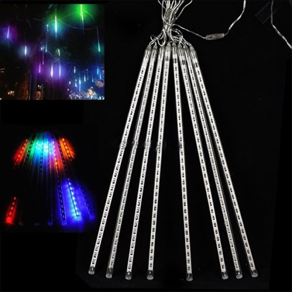 aliexpresscom buy 30cm 8tubes rain dropicicle snow fall string led halloween chrismas tree lighting decoration cascading light decor eu plug from - Raindrop Christmas Lights