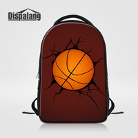 Dispalang Men S Laptop Backpacks Large Notebook Bags Crack Ball Pattern School Bags For Teenagers Womens