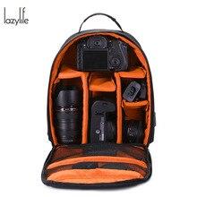 LAZYLIFE Waterproof Multi-functional Digital DSLR Camera Video Bag Small Backpack DSLR Camera Bag PE Padded for Photographer