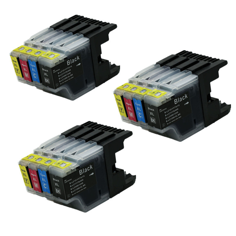 12PK Ink Cartridge Compatible for Brother MFC J280W MFC J430W MFC J435W DCP J925N DCP J525W