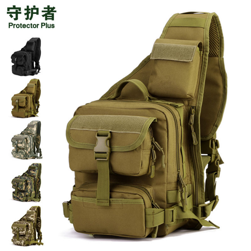 Men s Waterproof 1000D Nylon Tactical Army Chest Bag High Capacity Travel Cross Body Messenger Shoulder
