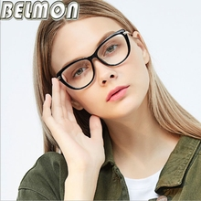 Belmon Optical Eyeglasses Frame Women Fashion Prescription Spectacles Eye Glasses Frames Transparent Clear Lens Eyewear RS809