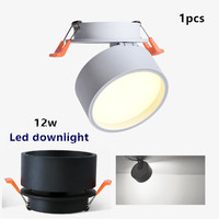 1pcs/lot High quality dimmable 12W led panel ceiling Led downlights Embedded 360 degree Rotation LED Downlight Home lighting