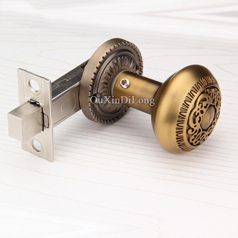 European Antique Carved Door Lock Deadbolt Lockset Background Door Knobs  Lock Interior Invisible Hidden Door Handle Lock In Locks From Home  Improvement On ...