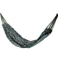 200 145cm 2 Person Hammock Outdoor Leisure Bed Camouflage Hanging Bed Double Sleeping Canvas Swing Hammock